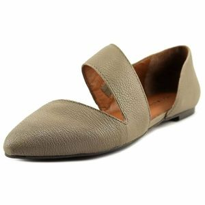 Lucky Brand Madysonn Pointed Toe Leather Flat 5.5M
